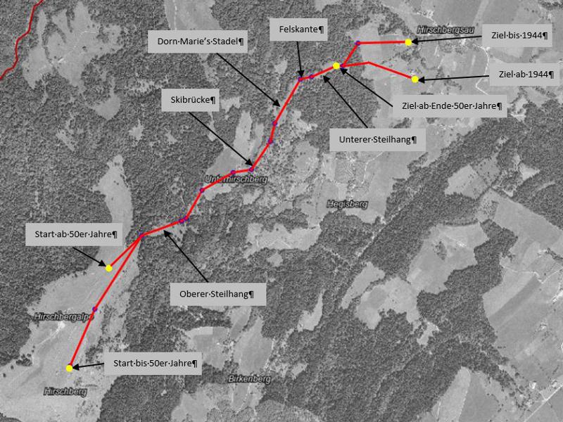 Hirschberg-Abfahrtslauf mit geänderter Streckenführung