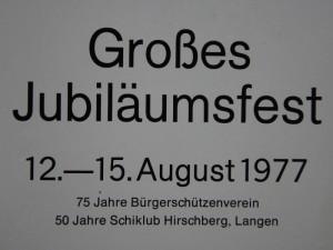 Jubiläum 1977