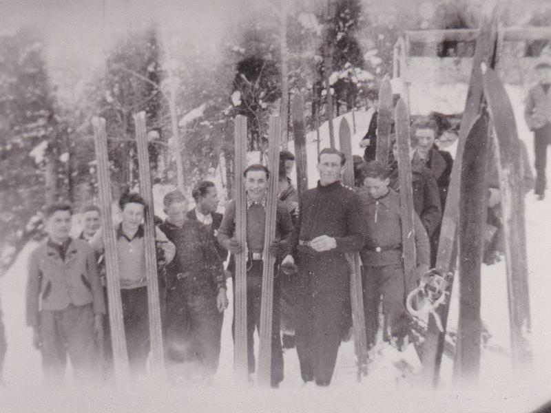 Skispringen 1930er Jahre Thal Au-1